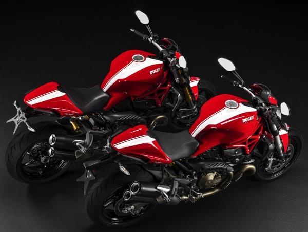 Ducati Monster 1200S Dan Monster 821 2015 Dengan Warna Jalur Baru