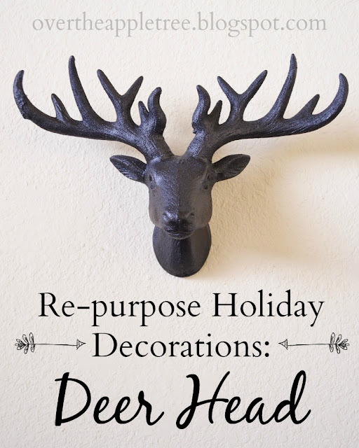 Re-purpose holiday decorations in to everyday home decor by Over The Apple Tree