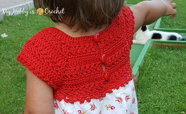 Crochet and Fabric Dress Elisa - Free Pattern