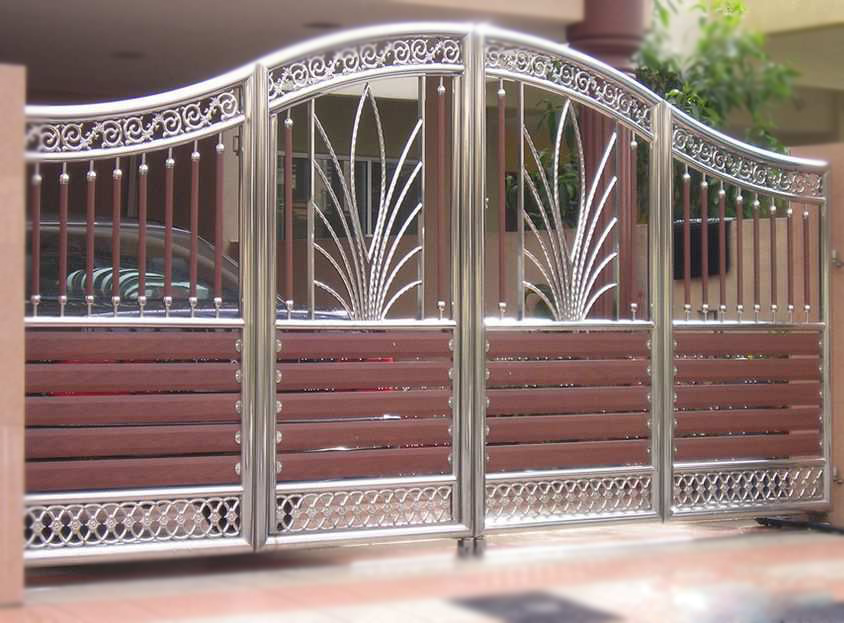 Latest fashion trends may 2016 for Wooden main gate design