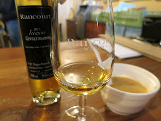 Rancourt Gewurztraminer Icewine paired with Harvest Barn Wicked Thai Chicken Soup