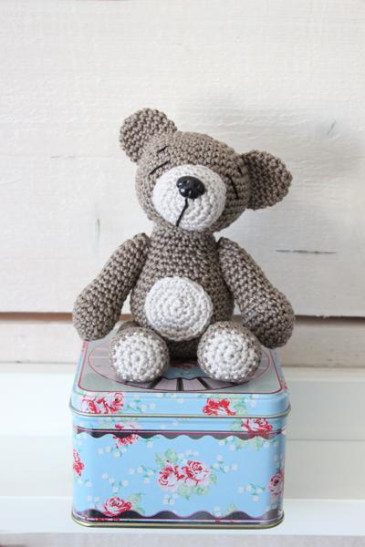 virka nallebjörn gratis mönster