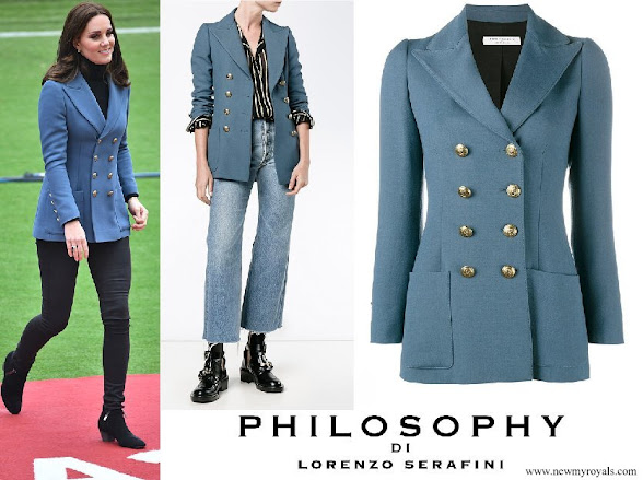Kate Middleton wore Philosophy Di Lorenzo Serafini double breasted blazer