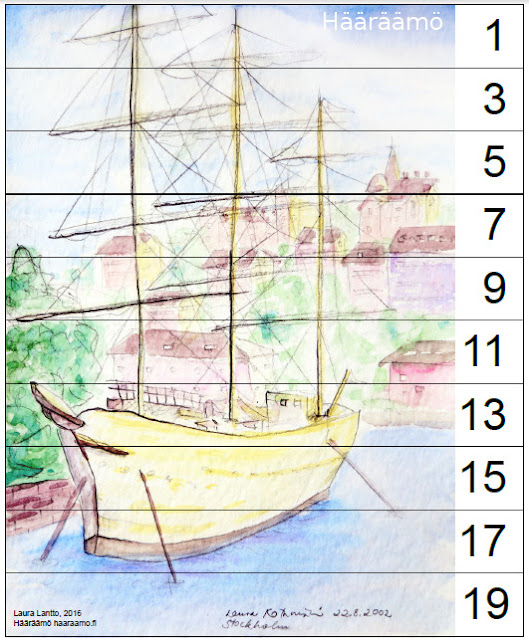 Skip counting puzzle Odd numbers 1 - 19