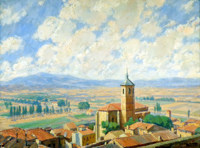 Santiago Martínez Martín,  Paisajistas españoles, Pintores españoles, Pintor español, Pintores de Sevilla, Paisaje de Ávila