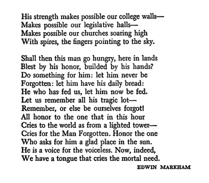 """From The Great Poem: Read Good Poetry: 5 Sep: """"The Forgotten Man"""" By Edwin Markham"""