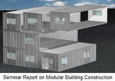 Seminar Report on Modular Building Construction