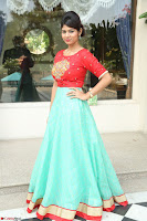 Lucky Shree Looks super cute in Bright Red Green Anarkali Dress ~  Exclusive 002.JPG