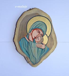 Zielona Madonna, Matka Boża … Ikona Autorska Modlitwą Pisana