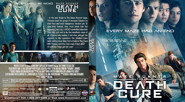 Maze Runner: The Death Cure Bluray Cover