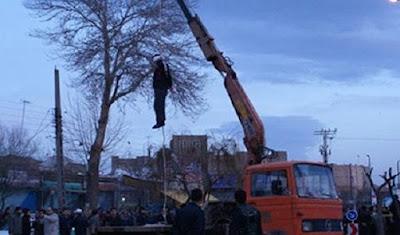 Public hanging, Khoy, Iran, December 14, 2017