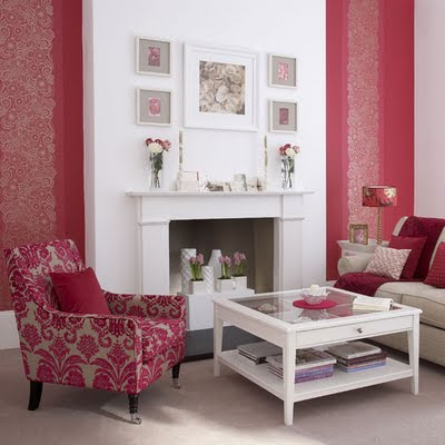 Theme Design : Romantic Red!! - Red Feature Color Wall