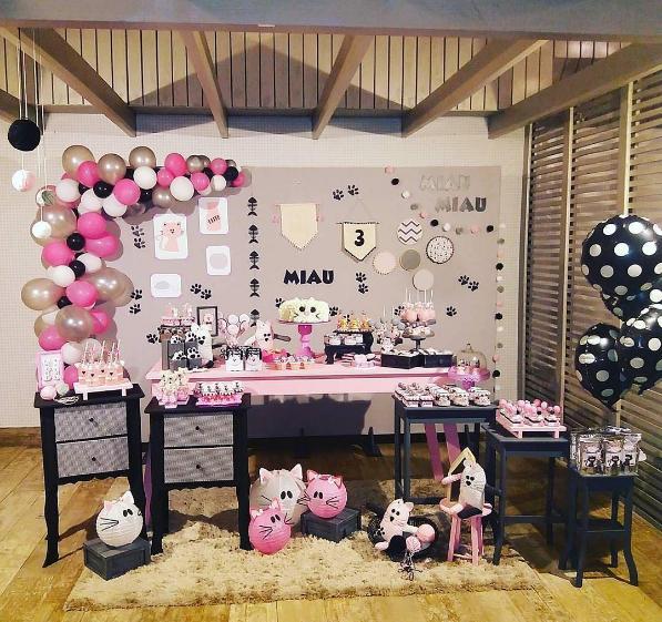 101 fiestas fiesta tematica de gatitos El gato negro decoracion