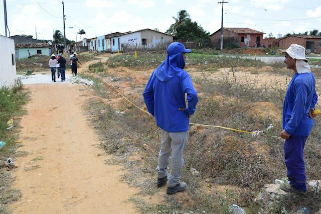 refeitura de Maruim inicia construção de quadra poliesportiva na zona rural