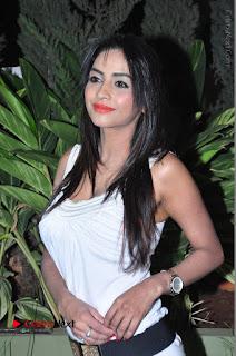 Actress Model Pooja Sri Stills in White Short Dress at F Club pre soft Launch  0004.JPG
