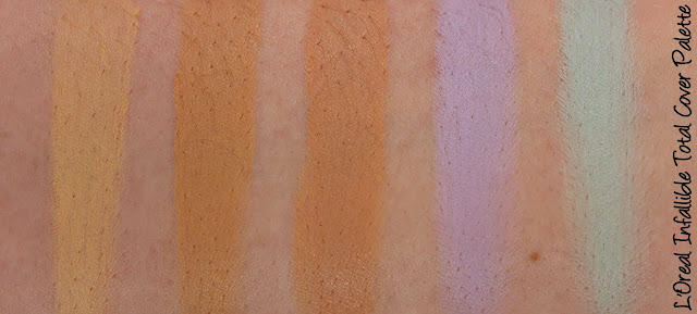 L'Oreal Infallible Total Cover Concealer Palette Swatches & Review
