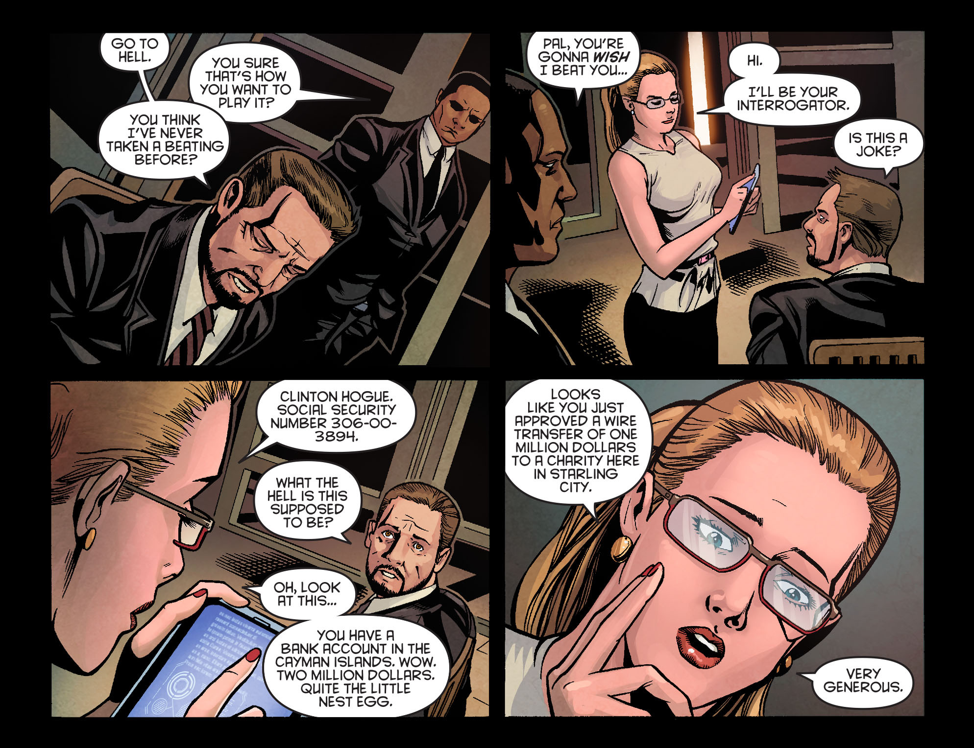 Read online Arrow: Season 2.5 [I] comic -  Issue #4 - 9