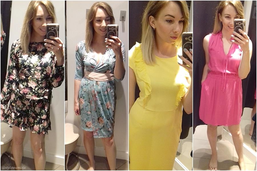 100zł, moda, poradnik, porady, przegląd, przymierzalnia, sieciówki, żółta, sukienka, kwiaty, Orsay