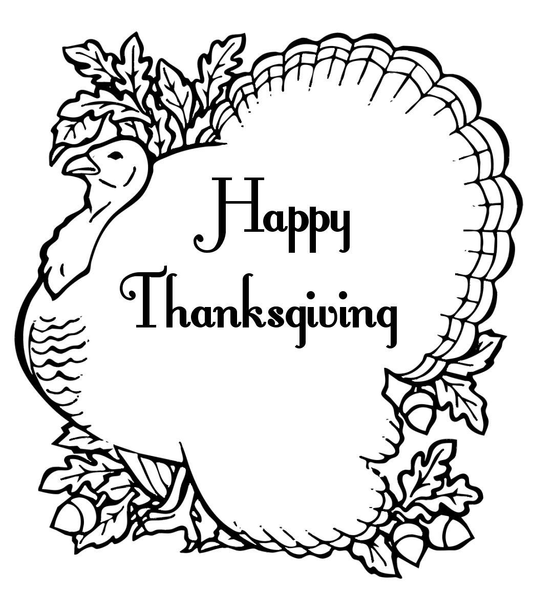 Coloring pages turkey coloring pages free and printable for Thanksgiving coloring page free