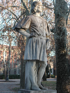 The statue of Ludovico Ariosto in the city of Reggio Emilia