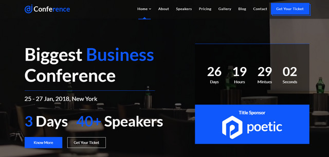 JD Conference Responsive Joomla Templates