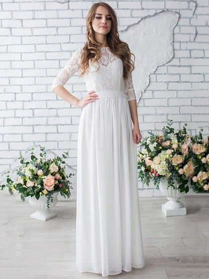 2017 Ultimate wedding trends: long lace sleeves and boho look. Dress by MillyBridal UK
