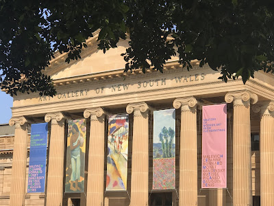 Entrance to the AGNSW Summer Exhibition of The Hermitage Modern Masters Exhibition