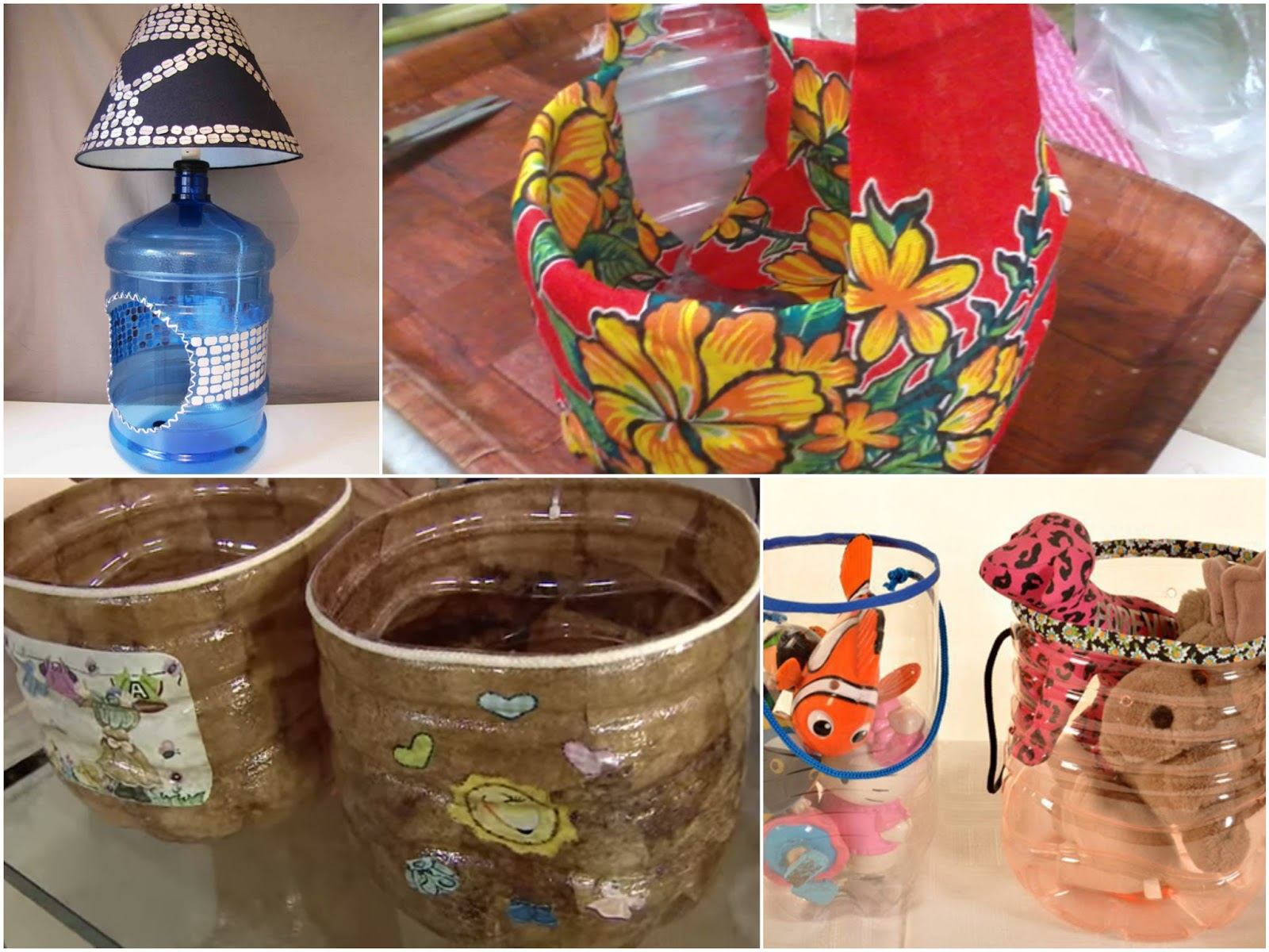 15 ideas de manualidades reciclando garrafones de agua for Ideas de decoracion reciclando