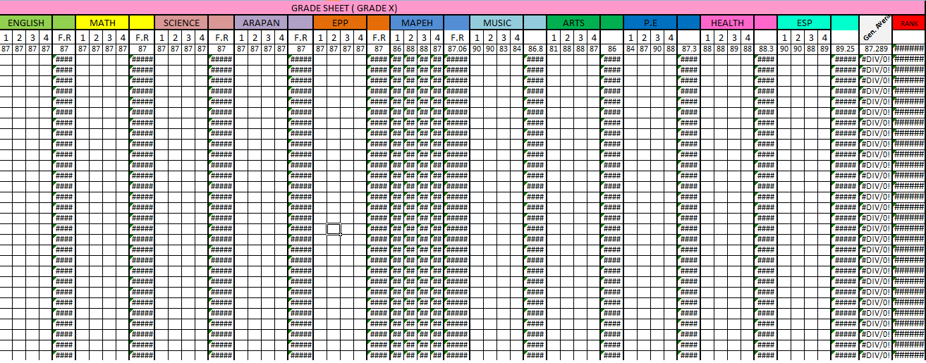 how to compute grades in college using excel