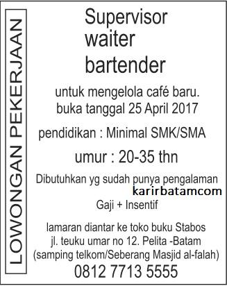 Lowongan Kerja Batam April 2017 : lowongan, kerja, batam, april, Lowongan, Kerja, Bartender, Waiter, April, Batam