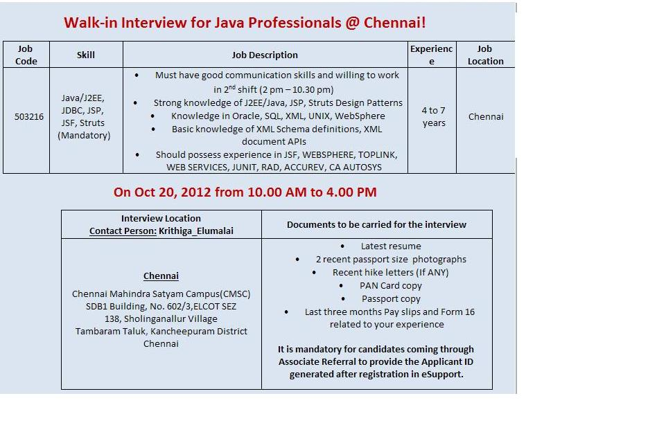 excel jobs walkins for experienced mahendra satyam