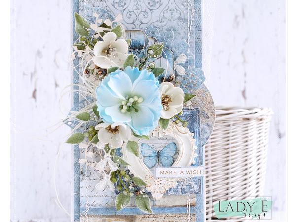 Blue Garden Card