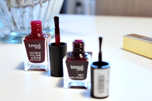 trend it up no.1 nailpolish #110, nails, roternagellack, dm nagellack, trend it up double volume &shine nail polish #340