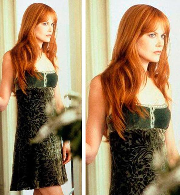 look veludo anos 90 Nicole Kidman