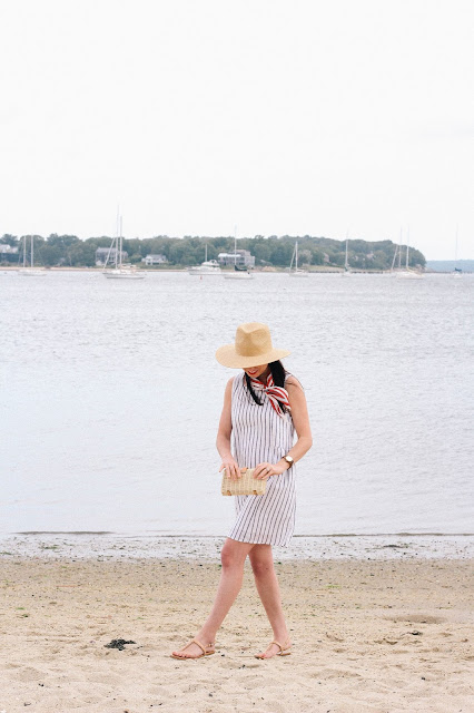 This effortless striped shift dress was exceptionally comfortable for walking around the seaside village of Sag Harbor.