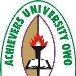 Achievers University School fees Schedule 2018/19