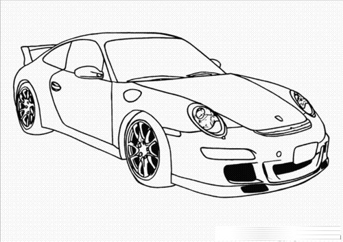 cars cartoon coloring pages - photo#11