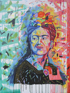 Frida Kahlo, acrilico sobre lienzo, por Jorge Marin