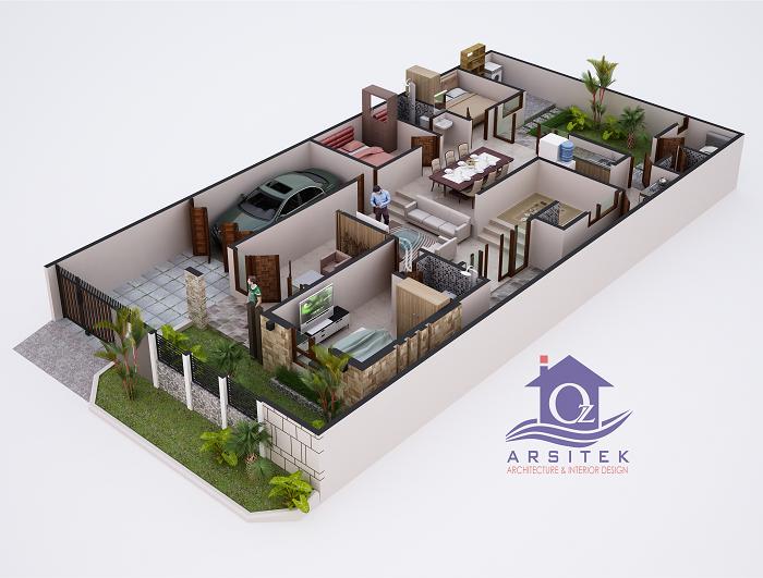 Desain Rumah Bapak Fadian di Tangerang