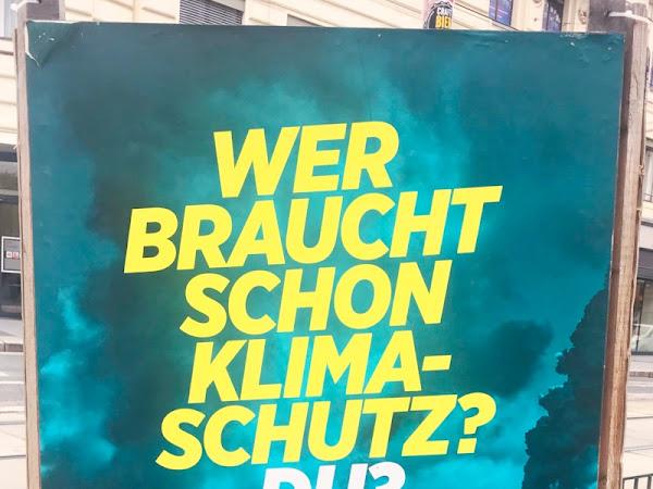 Die Europawahl 2019 Plakatgedanken - Von Grün, Blau und Rot oder Was die Tante Jolesch dazu zu sagen hat