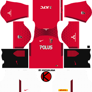 Urawa Red Diamonds 浦和レッドダイヤモンズ kits 2018 - Dream League Soccer