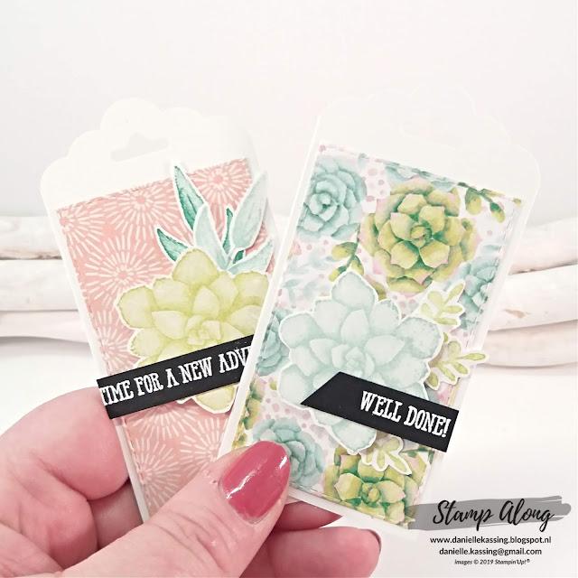 Stampin' Up! Painted Seasons bundle, labels, bloghop Creatieve Harten