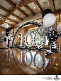 Black & White Balloon decor by Sue Bowler CBA