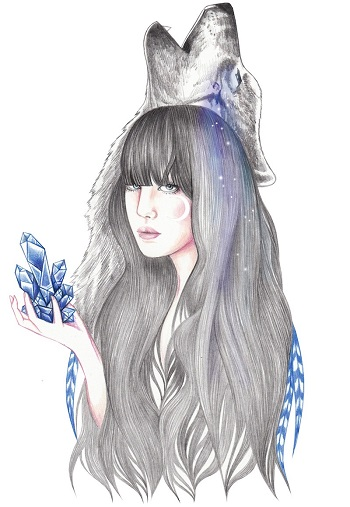 """Blue Crystal"" by Andrea Hrnjak 