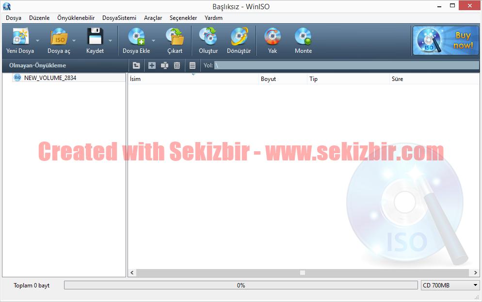Windows Kurulum Diskten ISO Image Dosyası Oluşturma