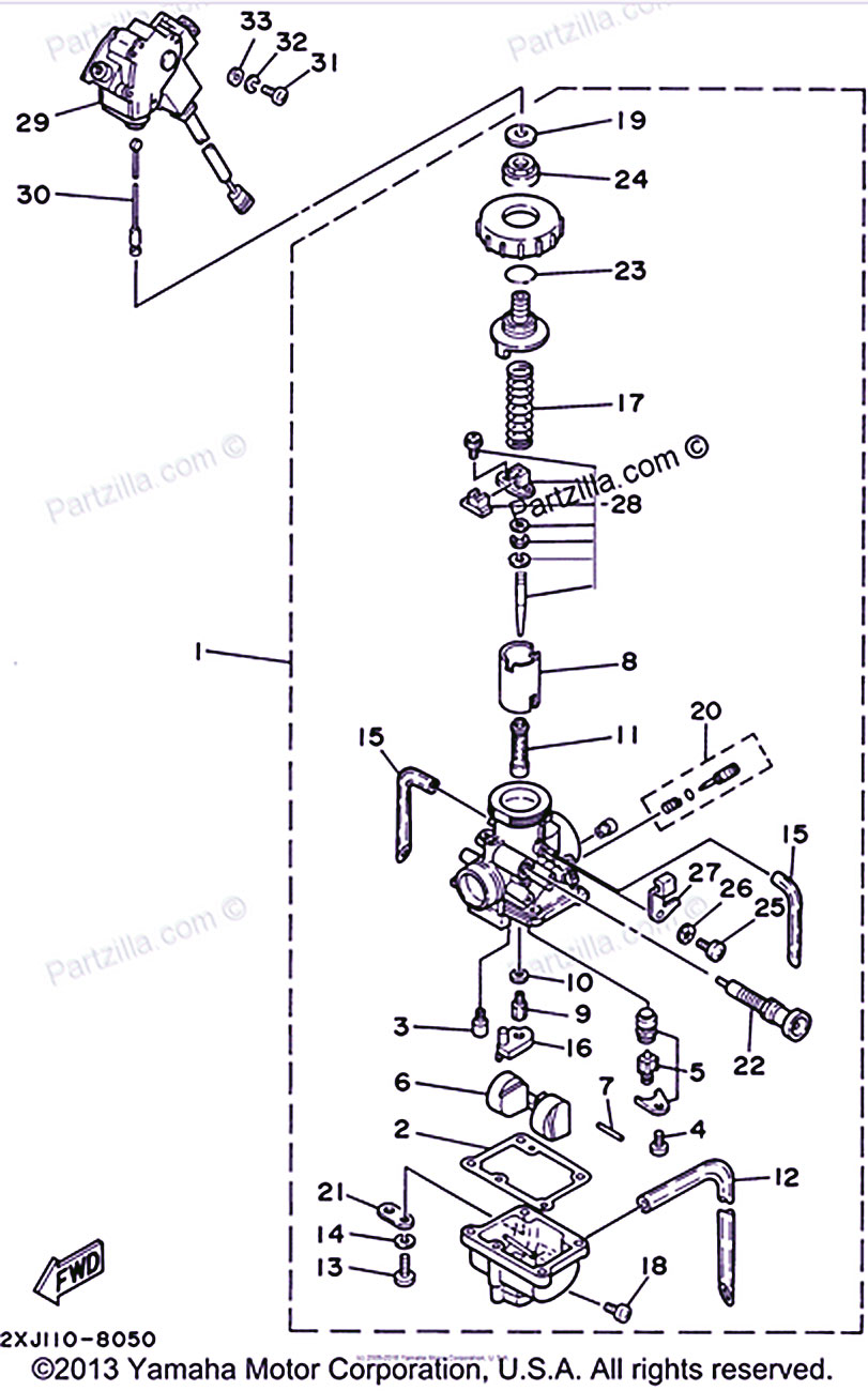 Yamaha Blaster Carburetor Diagram