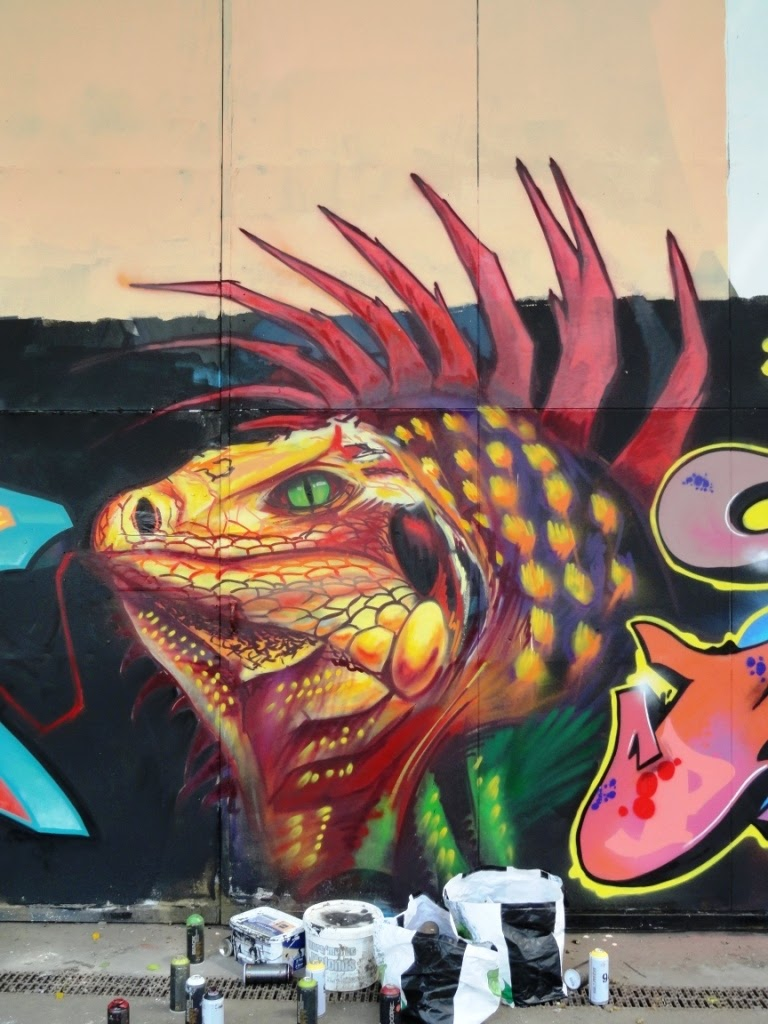 iguane graffiti