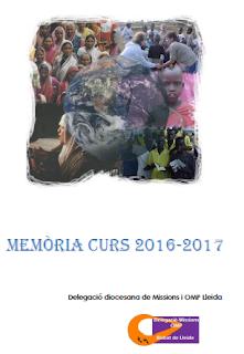 Memòria 2016 Delegació Missions Tarragona