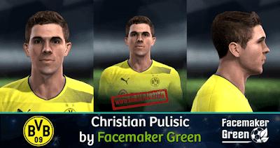 PES 2013 Christian Pulisic Face Hair ( Bor. Dortmund )