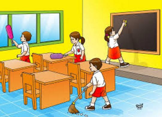 88 Gambar Anak Sekolah Piket Kelas Gratis Terbaru